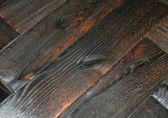 prachtige parketvloer Antique Herringbone Denali