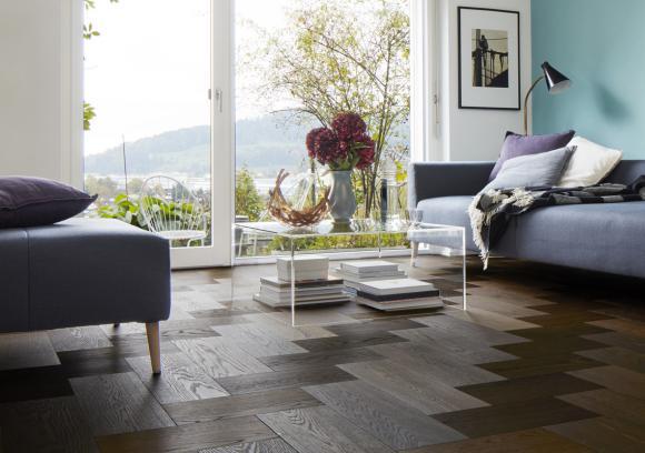 Moderne Houten Vloeren : Moderne eiken houten vloer donker geolied vloerenboerderij