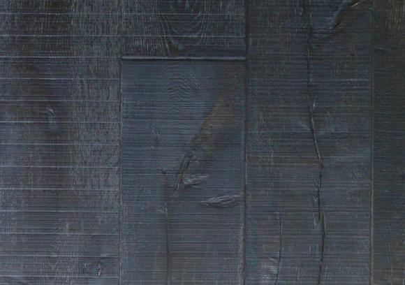 Zwart gewalste en hand verouderde eiken vloer verouderde houten