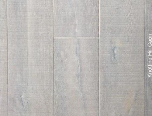 Verouderde plankenvloer Capri wit geolied