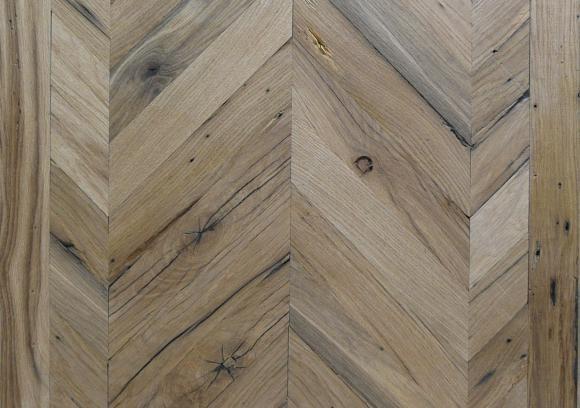 Visgraat parketvloer echt oud hout ongeoliede look Century-D Oak